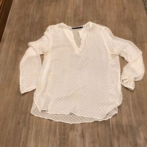 Zara Swiss dot blouse